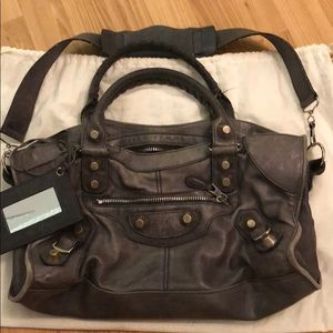 Balenciaga Giant silver City Bag